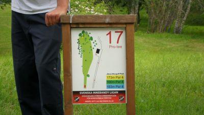 Järva Discgolf Park, Main course, Hole 17 Hole sign