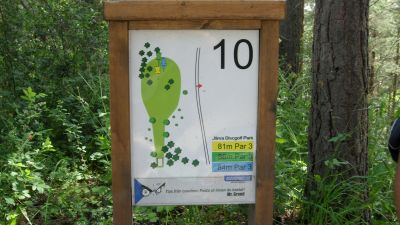 Järva Discgolf Park, Main course, Hole 10 Hole sign