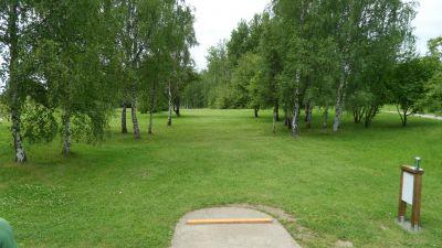Järva Discgolf Park, Main course, Hole 8 Tee pad