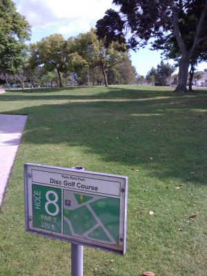 Twila-Reid Park, Main course, Hole 8 Tee pad