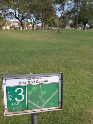 Twila-Reid Park, Main course, Hole 3 Tee pad