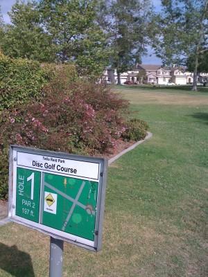 Twila-Reid Park, Main course, Hole 1 Tee pad