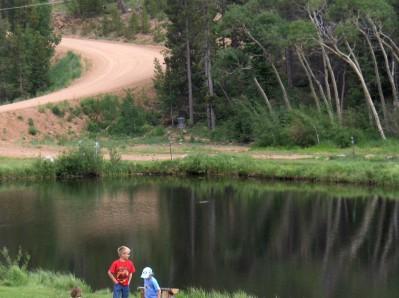 Beaver Meadows Resort Ranch, Main course, Hole 1 Long tee pad