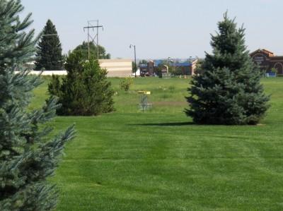 Pioneer Park, Main course, Hole 4 Short tee pad