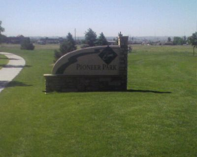 Pioneer Park, Main course, Hole 1 Hole sign