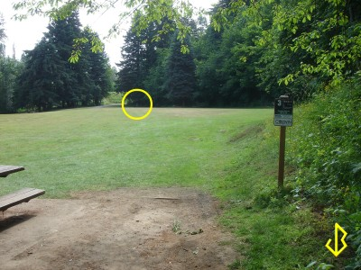 Leverich Park, Main course, Hole 3 Tee pad