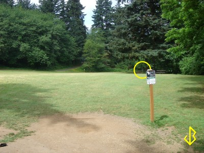 Leverich Park, Main course, Hole 5 Tee pad