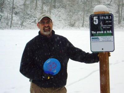 Leverich Park, Main course, Hole 5 Hole sign