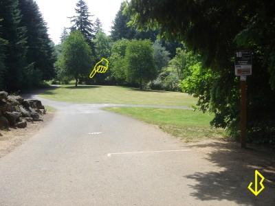 Leverich Park, Main course, Hole 10 Tee pad