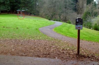 Leverich Park, Main course, Hole 6 Tee pad