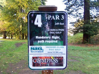 Leverich Park, Main course, Hole 4 Hole sign