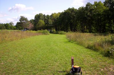 Fort Custer Recreation Area, Beach Course, Hole 1 Tee pad