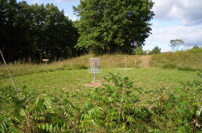 Fort Custer Recreation Area, Beach Course, Hole 4 Short approach