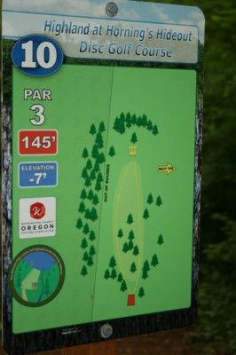 Horning's Hideout, The Highlands, Hole 10 Hole sign