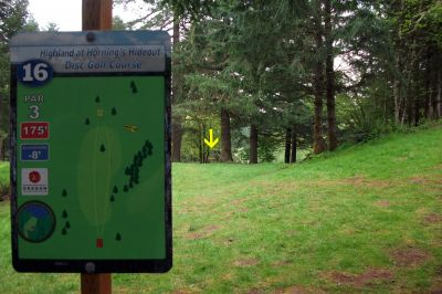 Horning's Hideout, The Highlands, Hole 16 Tee pad