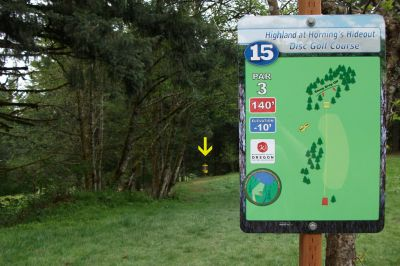 Horning's Hideout, The Highlands, Hole 15 Tee pad