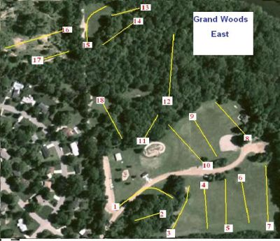 Grand Woods Park, East course, Hole 1 Tee pad