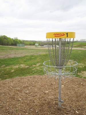 Pearsall Park, Main course, Hole 1 Reverse (back up the fairway)