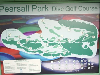 Pearsall Park, Main course, Hole 1 Hole sign