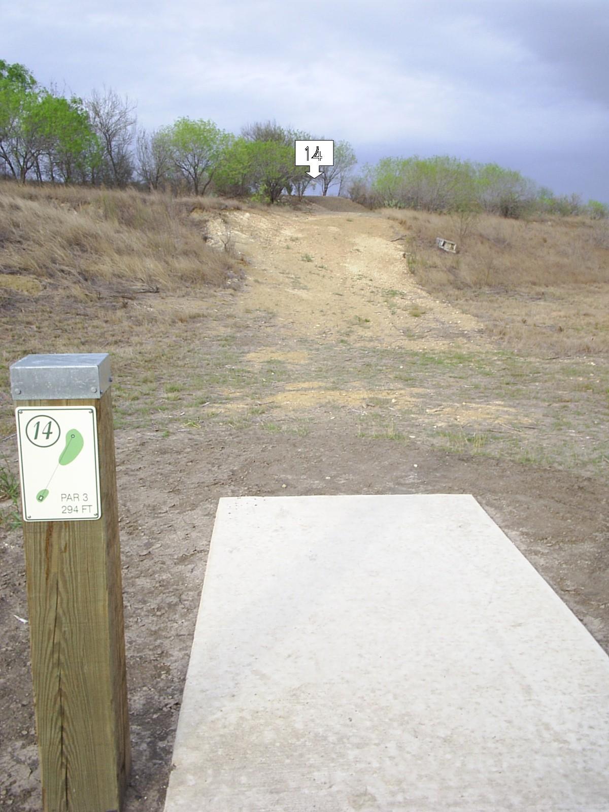 Hole 14 Pearsall Park San Antonio Tx Disc Golf