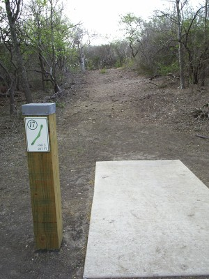 Pearsall Park, Main course, Hole 17 Tee pad