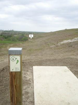 Pearsall Park, Main course, Hole 6 Tee pad