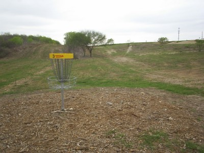 Pearsall Park, Main course, Hole 3 Reverse (back up the fairway)