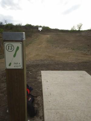 Pearsall Park, Main course, Hole 13 Tee pad
