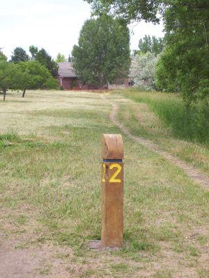Mylar Park, Main course, Hole 2 Tee pad