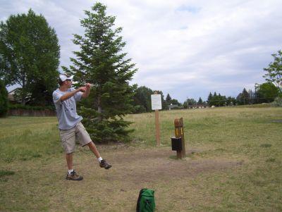 Mylar Park, Main course, Hole 1 Tee pad