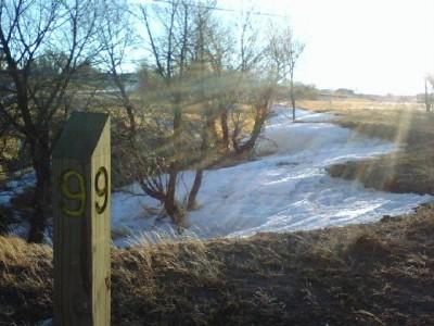 Romero Park, Main course, Hole 9 Tee pad