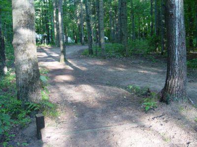 Newaygo State Park, Main course, Hole 14 Short tee pad
