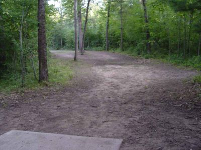 Newaygo State Park, Main course, Hole 18 Long tee pad