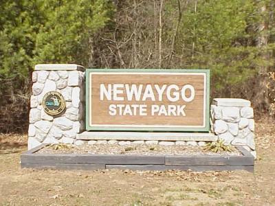 Newaygo State Park, Main course, Hole 1 Hole sign