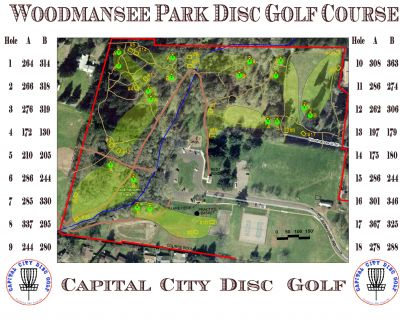 Woodmansee Park, Main course, Hole 4 Hole sign