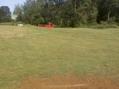 Woodmansee Park, Main course, Hole 1 Tee pad