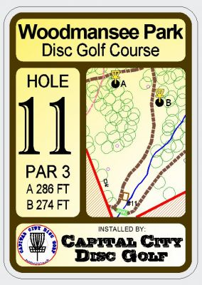 Woodmansee Park, Main course, Hole 2 Hole sign