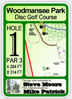 Woodmansee Park, Main course, Hole 3 Hole sign
