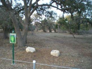Boerne Lake Park, Main course, Hole 7 Tee pad