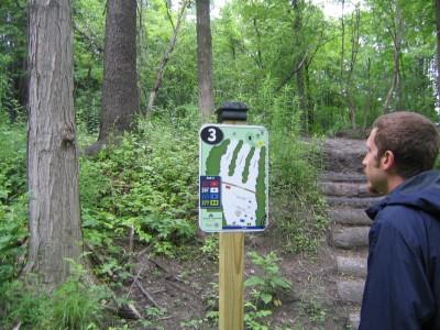 Emery Park, Black Diamond, Hole 3 Hole sign
