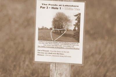Lakeshore, The Ponds, Hole 1 Hole sign