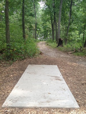 Hammond Hill, Main course, Hole 6 Long tee pad
