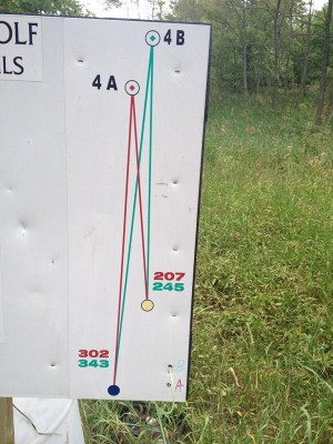 Hammond Hill, Main course, Hole 4 Hole sign