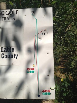 Hammond Hill, Main course, Hole 9 Hole sign