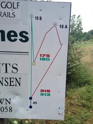 Hammond Hill, Main course, Hole 16 Hole sign