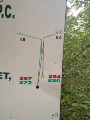 Hammond Hill, Main course, Hole 8 Hole sign