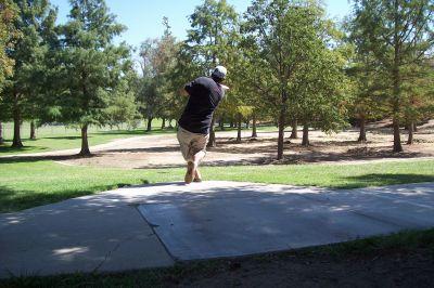 Riverview Park, Main course, Hole 6 Tee pad