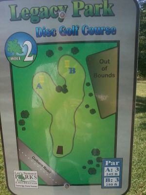 Jokerst Memorial Park, Main course, Hole 2 Hole sign