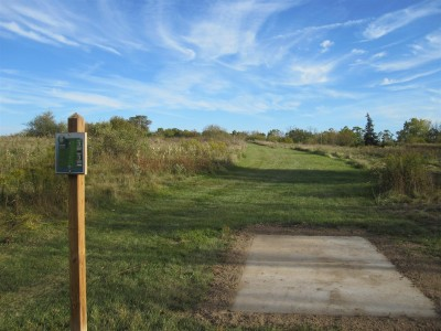 Independence Lake County Park, Chuck D. Memorial Course, Hole 6 Long tee pad