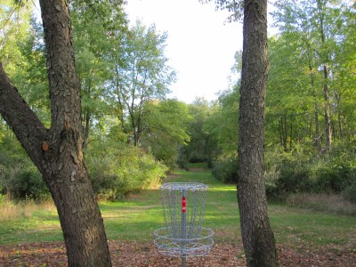 Independence Lake County Park, Red Hawk, Hole 17 Reverse (back up the fairway)
